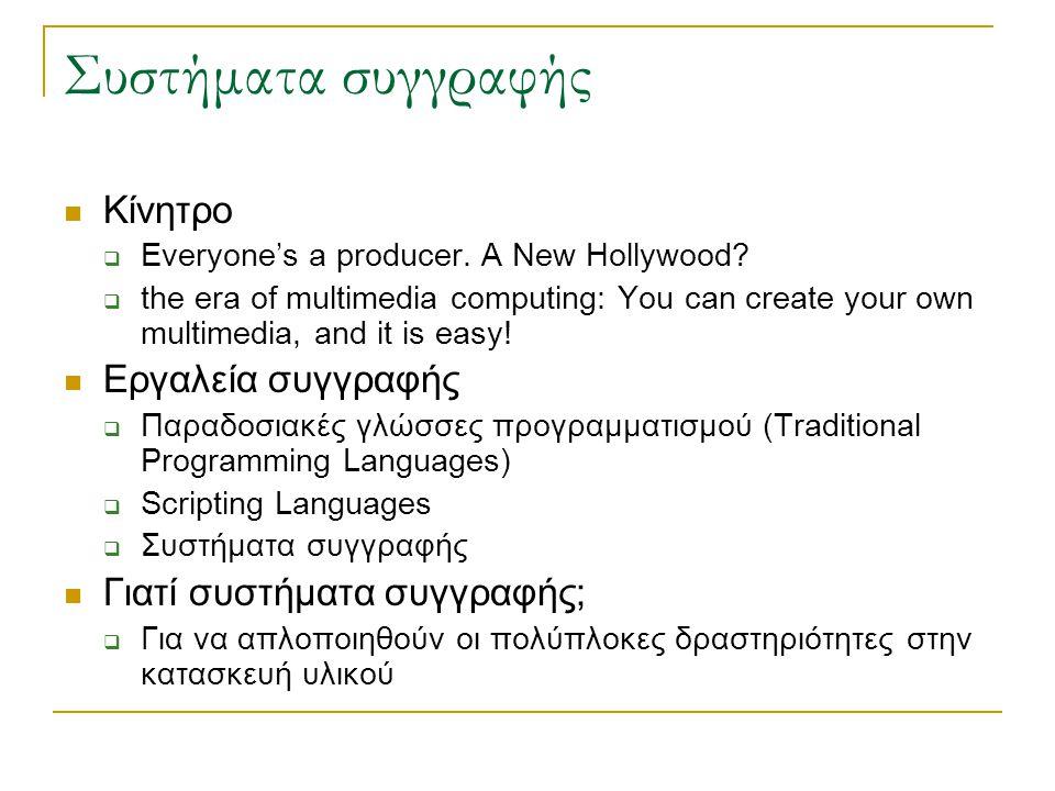 Συστήματα συγγραφής  Κίνητρο  Everyone's a producer.