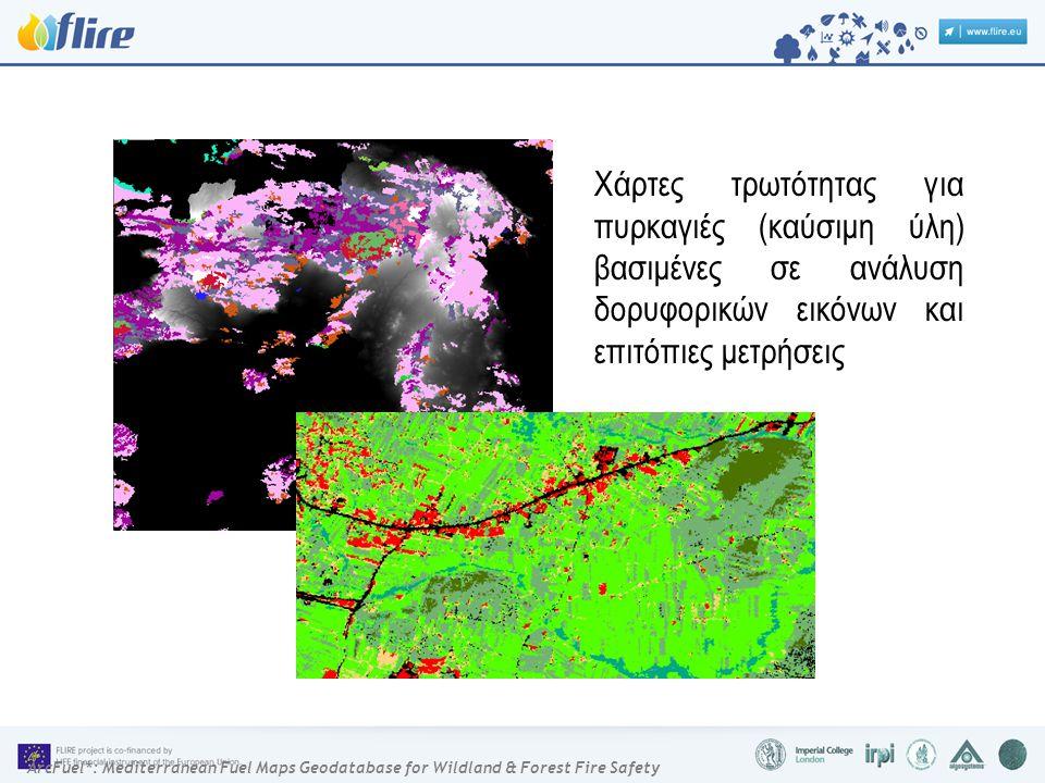ArcFuel*: Mediterranean Fuel Maps Geodatabase for Wildland & Forest Fire Safety Χάρτες τρωτότητας για πυρκαγιές (καύσιμη ύλη) βασιμένες σε ανάλυση δορυφορικών εικόνων και επιτόπιες μετρήσεις