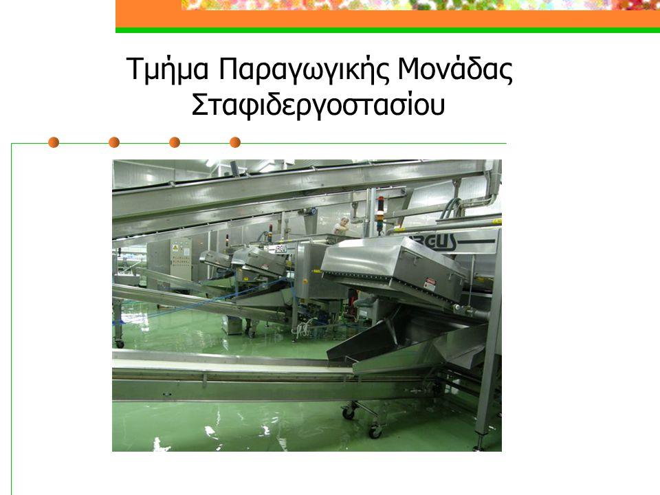 Τμήμα Παραγωγικής Μονάδας Σταφιδεργοστασίου