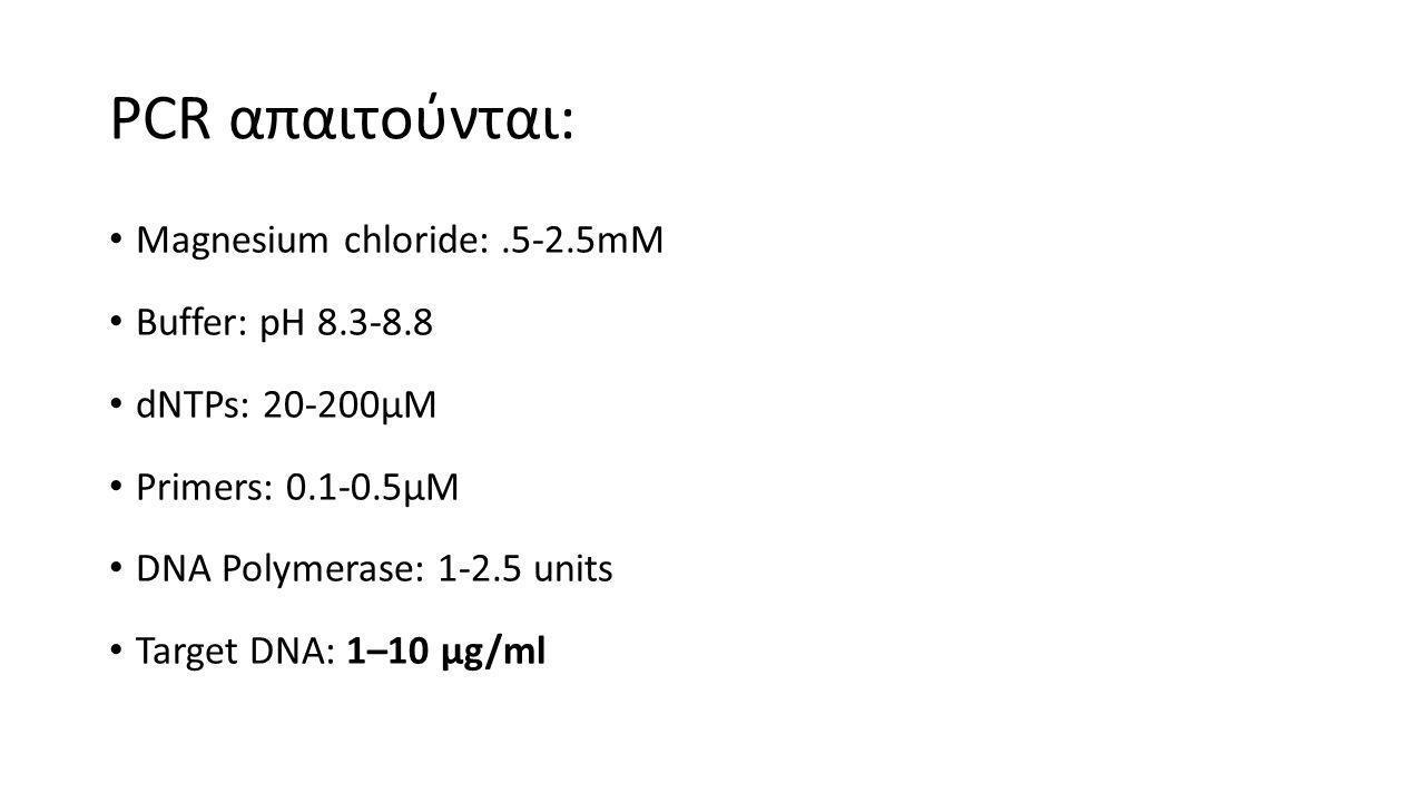 ΕΚΚΙΝΗΤΕΣ (PRIMERS)  Εκκινητές : 20-30 νουκλεοτίδια  GC = 40-6-% ομοιογενώς κατανεμημένα.