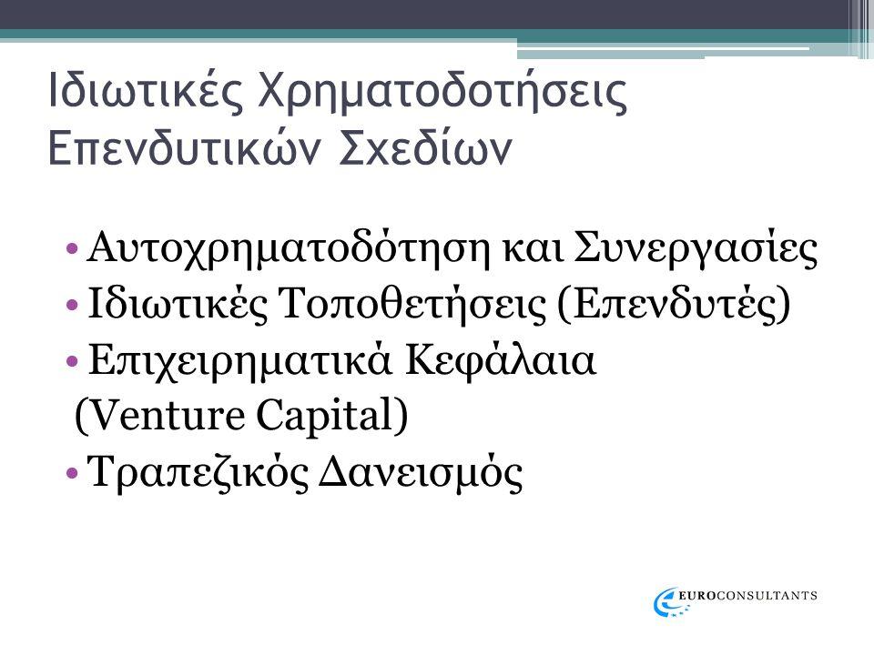 Κρατικές Χρηματοδοτήσεις Επενδυτικών Σχεδίων ΕΣΠΑ