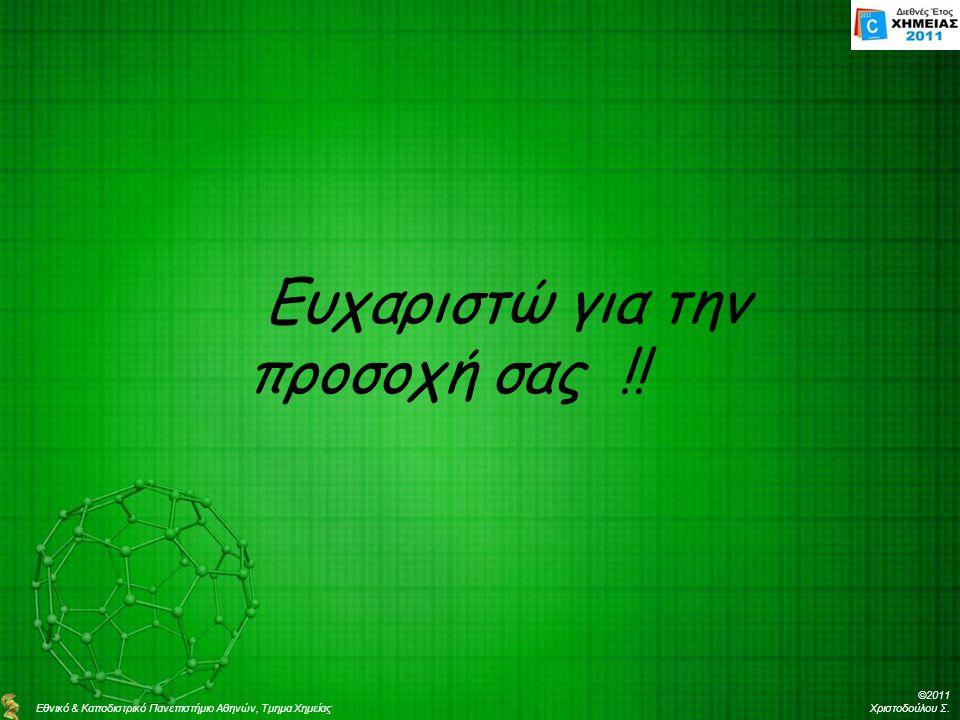 ©2011 Χριστοδούλου Σ.Ευχαριστώ για την προσοχή σας !.