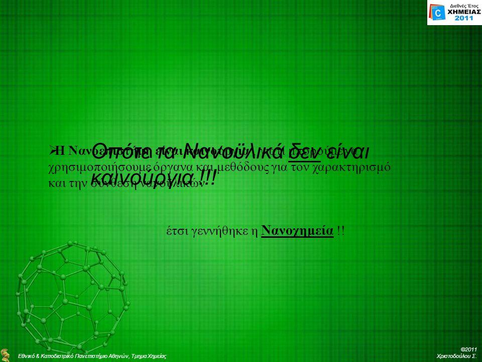 ©2011 Χριστοδούλου Σ.Οπότε τα Νανοϋλικά δεν είναι καινούργια !!.