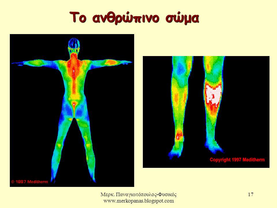 Μερκ. Παναγιωτόπουλος-Φυσικός www.merkopanas.blogspot.com 17 Το ανθρώπινο σώμα