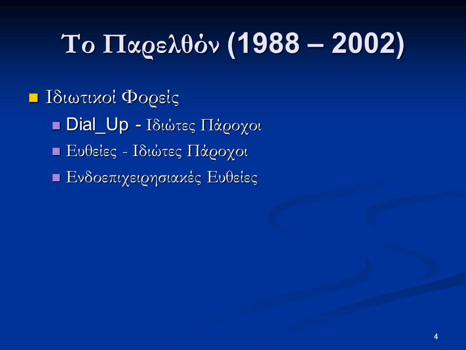 15 Το Μέλλον (2007 - …)  ΕΦΑΡΜΟΓΕΣ  Υπηρεσίες άμεσης επέμβασης  Πληροφόρηση, Ταχύτητα, Έλεγχος, Άμεσες απαντήσεις  Υπηρεσίες και Παρεμβάσεις Τοπικής Αυτοδιοίκησης  Καλύτερη και άμεση εξυπηρέτηση, Μείωση Γραφειοκρατίας  Ηλεκτρονική διακυβέρνηση  Πρόσβαση σε online δημοτικές και δημόσιες υπηρεσίες, Πληρωμές, Επικοινωνία  Υπηρεσίες για το κοινό  Πληροφόρηση, Ασφάλεια, Ηλεκτρονική Δημοκρατία, Εξυπηρέτηση Τουριστών και Επισκεπτών