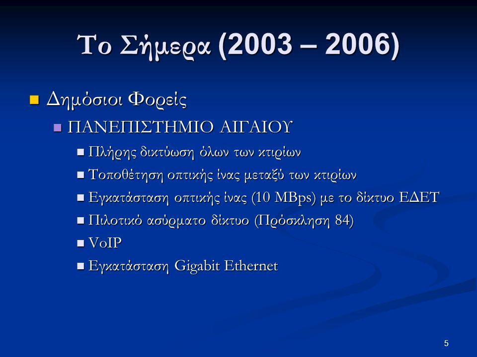 16 Το Μέλλον (2007 - …)  ΕΦΑΡΜΟΓΕΣ  Επιχειρήσεις  Ανταγωνισμός, Αύξηση κερδοφορίας, Μείωση της απόστασης από τον τελικό καταναλωτή  Ναυτιλιακές – Τουριστικές Επιχειρήσεις  Προσέλκυση νέων, Απομάκρυνση από το κέντρο  Σχολεία και Πανεπιστήμια  Μείωση κοινονικο-οικονομικών αποστάσεων, Συνεχής online πληροφόρηση και πρόσβαση σε ψηφιακούς πόρους και εργαλεία μάθησης