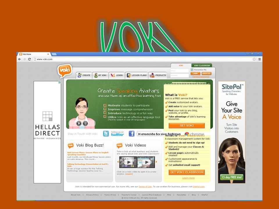 Στο site απαιτείται εγγραφή και είναι δωρεάν και χωρίς περιορισμούς Στην εφαρμογή αυτή μπορεί κάποιος να φτιάξει έναν avatar να τον ντύσει και να προσθέσει μέχρι και ομιλία