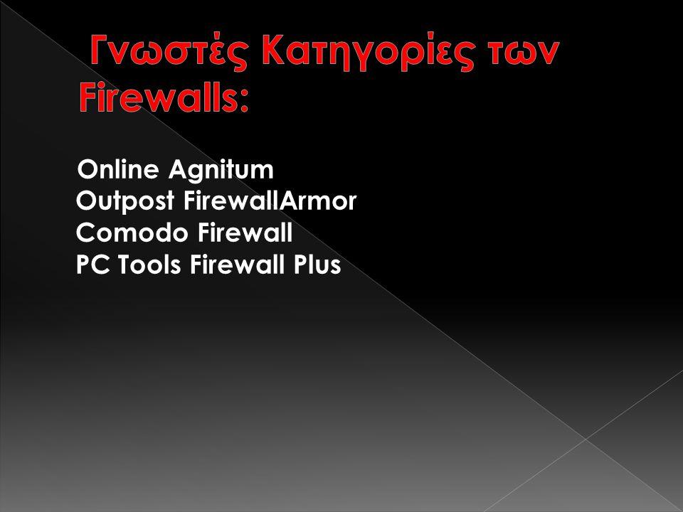 Online Agnitum Outpost FirewallArmor Comodo Firewall PC Tools Firewall Plus