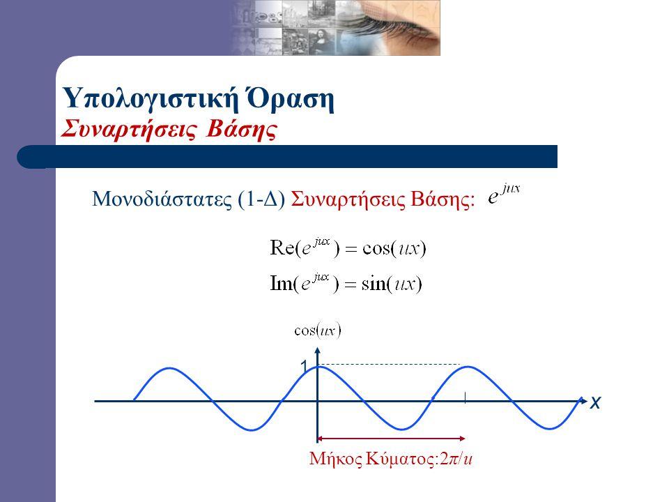 Διδιάστατος (2-Δ) Συνεχής Μετασχηματισμός Fourier Διδιάστατος (2-Δ) Συνεχής Αντίστροφος Μετ/σμός Fourier Υπολογιστική Όραση Μετασχηματισμός Fourier (2