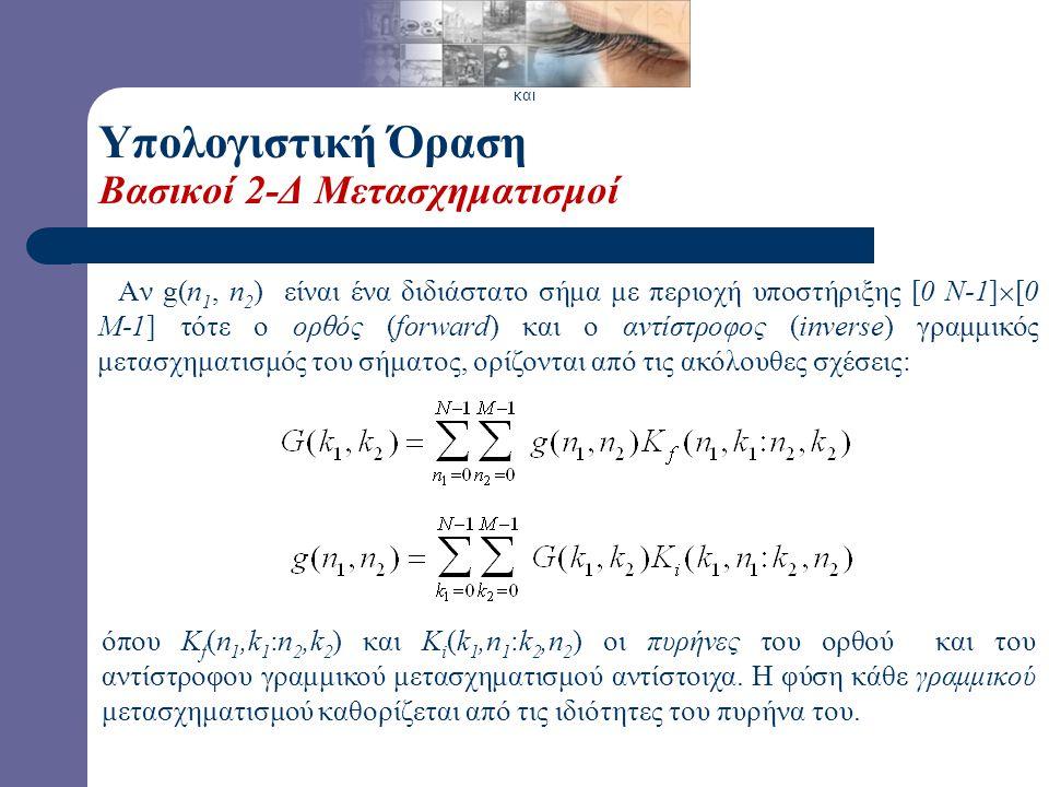 Υπολογιστική Όραση Μετασχηματισμός Fourier (2-Δ)-Σχεδίαση Φίλτρων Απόκριση Συχνότητας Ζωνοπερατού Φίλτρου Ισοϋψείς Ζωνοπερατού Φίλτρου