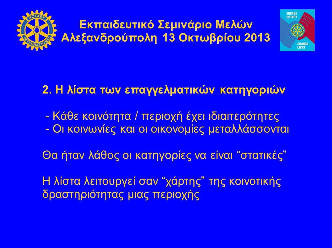 Εκπαιδευτικό Σεμινάριο Μελών Αλεξανδρούπολη 13 Οκτωβρίου 2013 3.