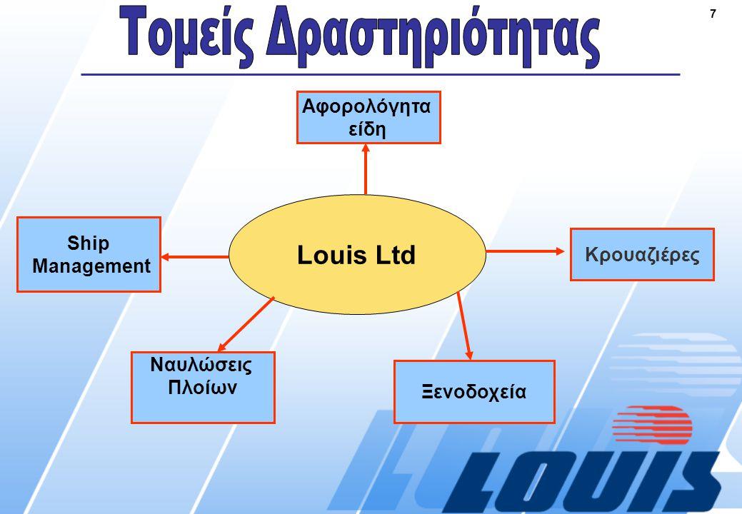 7 Louis Ltd Ναυλώσεις Πλοίων Ξενοδοχεία Κρουαζιέρες Αφορολόγητα είδη Ship Management