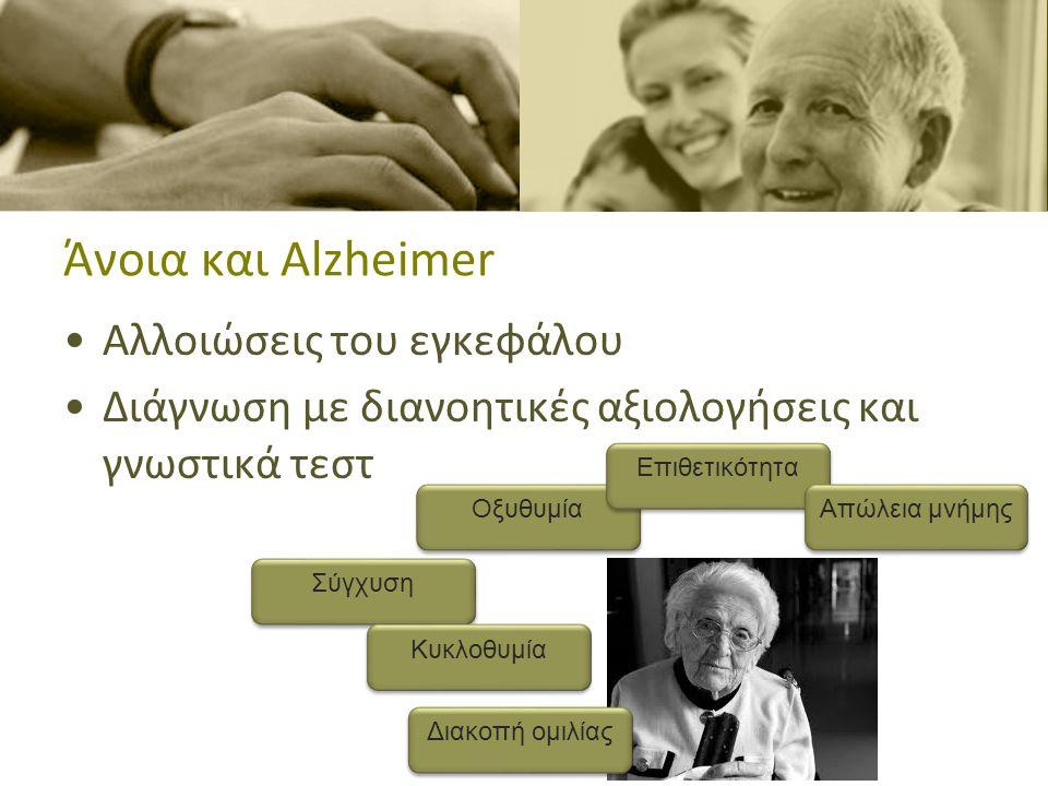 Γνωστικές διαδικασίες Μνήμη Γλώσσα Οπτικοχωρικές ικανότητες Αντίληψη