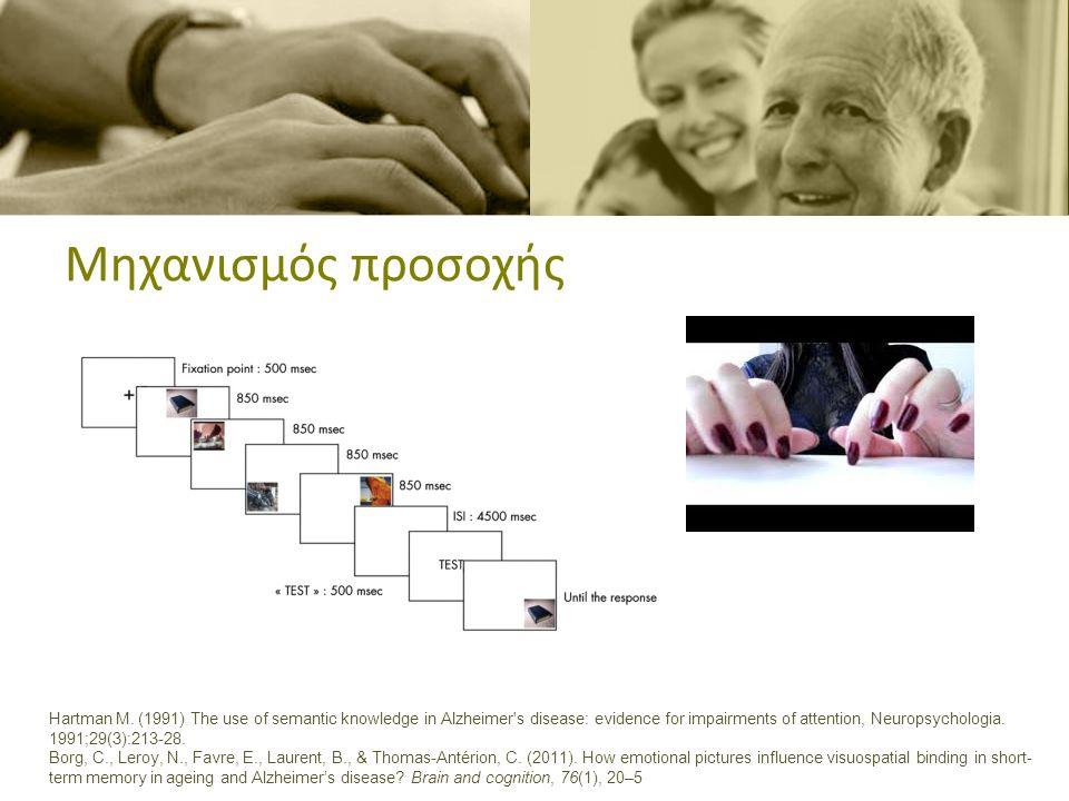 Συναίσθημα και μνήμη •Πείραμα: Σειρά εικόνων με ουδέτερο ή αρνητικό συναίσθημα •Στόχος: μνήμη και αναγνώριση θέσης εικόνας Borg, C., Leroy, N., Favre, E., Laurent, B., & Thomas-Antérion, C.