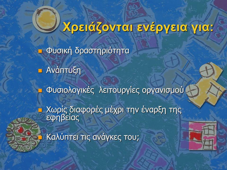 Ιδέες για σνακ n μήλα σε φέτες με κανέλα n πολύχρωμη φρουτοσαλάτα n γιαούρτι με φρέσκα ή αποξηραμένα φρούτα n δημητριακά με γάλα ή γιαούρτι n γιαούρτι με μέλι και ξηρούς καρπούς n σπιτικό μιλκ-σέικ με γάλα και φρούτα n ζελέ με φρέσκα φρούτα n Σπιτικό ρυζόγαλο ή κρέμα αραβοσίτου n μικρά σάντουιτς με τυρί ή κοτόπουλο ή άπαχο ζαμπόν ή μαρμελάδα κτλ n ψωμί με ταχίνι και μέλι n σπιτικά ποπ κορν n ωμά λαχανικά σε στικ με διάφορα ντιπ n βραστό καλαμπόκι n μικρό κομμάτι σπιτικού κέικ ή μηλόπιτας n 2 απλά μπισκότα