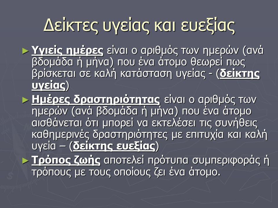 Ευρωστία – υγεία ► Ευρωστία είναι η ικανότητα του σώματος να λειτουργεί αποτελεσματικά και με επάρκεια.