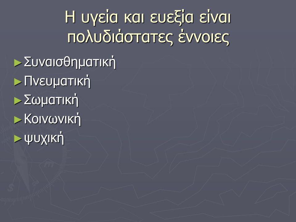 ► Η ευρωστία αποτελεί συνδυασμό αρκετών στοιχείων και όχι ένα μεμονωμένο χαρακτηριστικό.