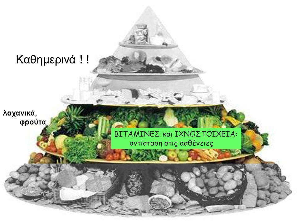 λαχανικά, φρούτα ΒΙΤΑΜΙΝΕΣ και ΙΧΝΟΣΤΟΙΧΕΙΑ: αντίσταση στις ασθένειες Καθημερινά ! !
