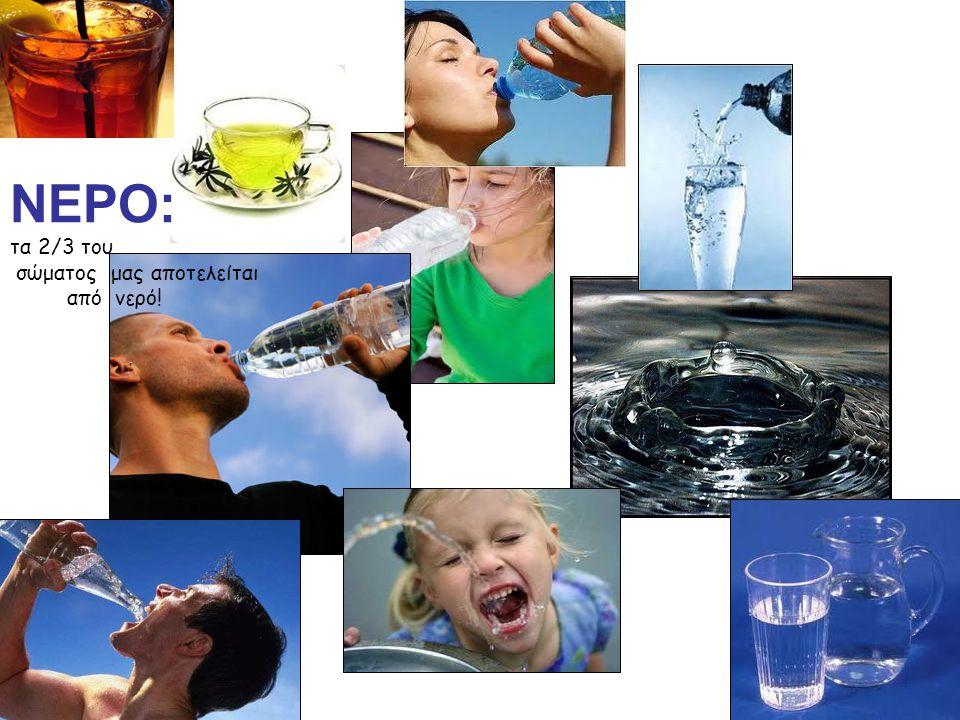 ΝΕΡΟ: τα 2/3 του σώματος μας αποτελείται από νερό!