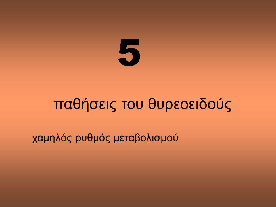 παθήσεις του θυρεοειδούς χαμηλός ρυθμός μεταβολισμού 5