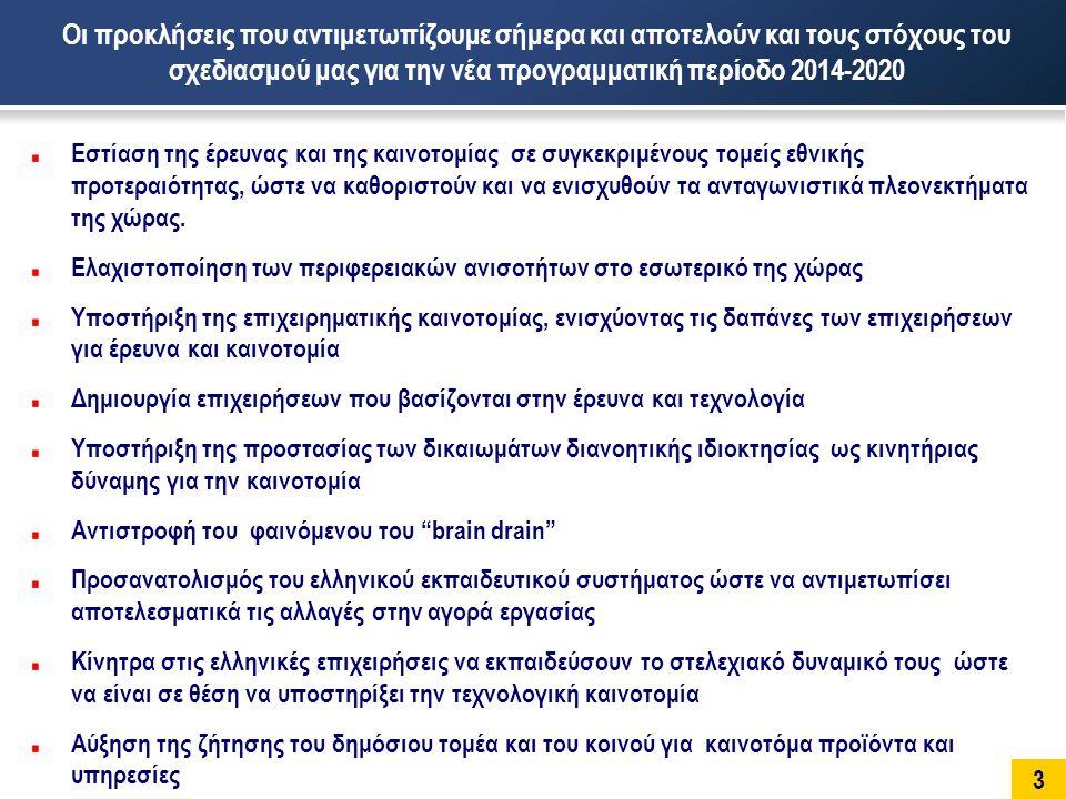14 Τεχνολογίες Πληροφορικής και Επικοινωνιών Ανάπτυξη τομέων με ισχυρή «διεθνή» ζήτηση στους οποίους η χώρα μπορεί να αποκτήσει εξειδίκευση με βάση υφιστάμενες ελληνικές «επιτυχίες» από δυναμικές επιχειρήσεις με ικανότητα παρουσίας και στις διεθνείς αγορές Ανάπτυξη στρατηγικών διακλαδικών συνεργασιών με επιχειρήσεις άλλων κλάδων της οικονομίας με ιδιαίτερο ειδικό βάρος για τον καθορισμό του ΑΕΠ (τουρισμός, ναυτιλία κλπ.), αλλά και με κλάδους που αναμένεται να αναπτυχθούν σημαντικά μέσα στα επόμενα χρόνια (π.χ.