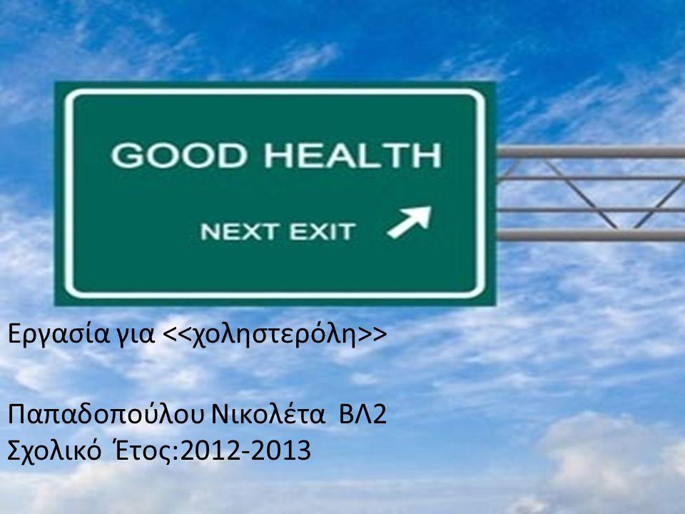 Εργασία για > Παπαδοπούλου Νικολέτα ΒΛ2 Σχολικό Έτος:2012-2013