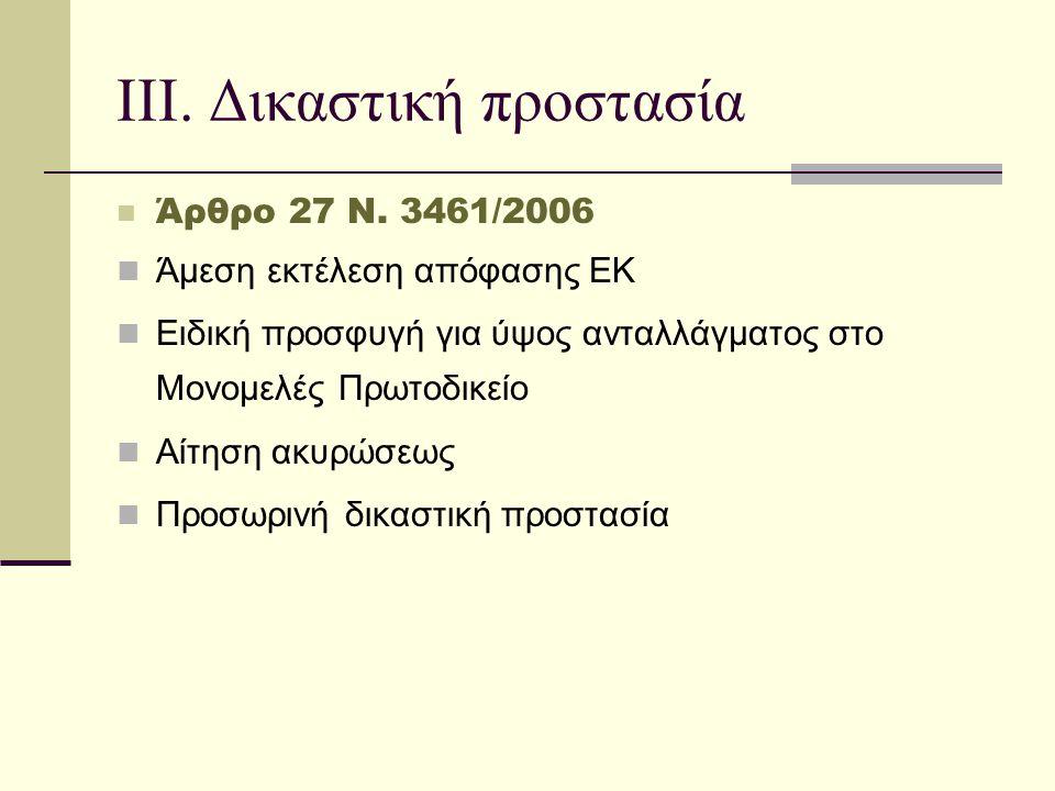 ΙΙΙ. Δικαστική προστασία  Άρθρο 27 Ν.