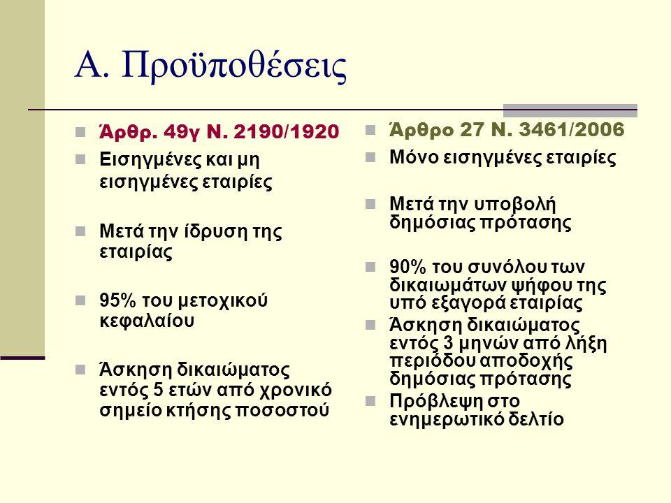 Α.Προϋποθέσεις (συνέχεια)  Άρθρ. 49γ Ν.