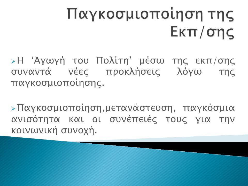 Πειθαναγκασμός - Νομικά Κίνητρα (Θεσμικά Πλαίσια) - Οικονομικά Κίνητρα (Χρηματοδοτήσεις) Μίμηση Πλαισίωση - Πιθανές λύσεις σε Μόρφωση της εκπ/κά ζητήματα - Διάχυση ιδεών Ελίτ Μηχανισμοί Παγκοσμιοποίησης (Radaelli, 2003)