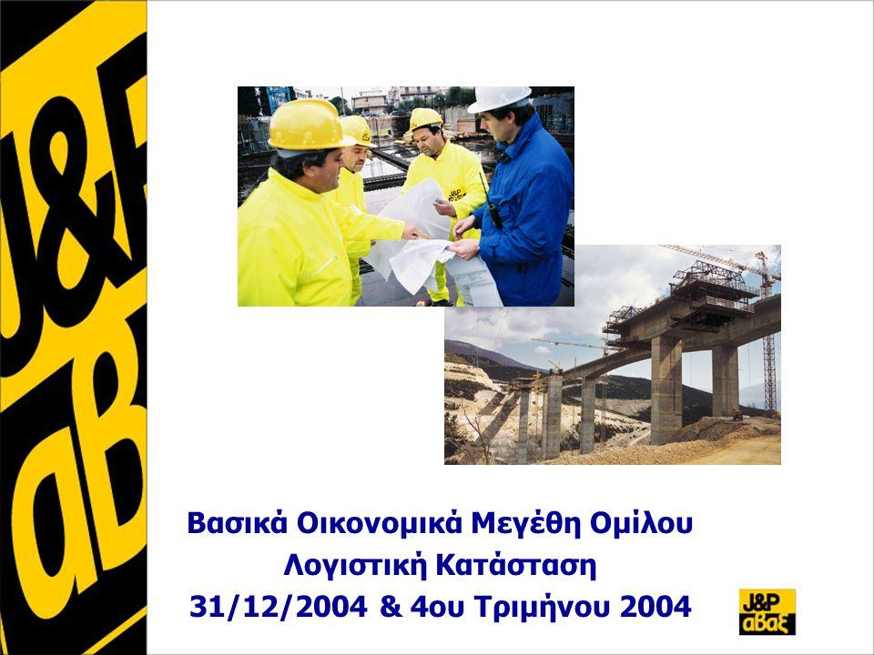 Βασικά Οικονομικά Μεγέθη Ομίλου Λογιστική Κατάσταση 31/12/2004 & 4ου Τριμήνου 2004