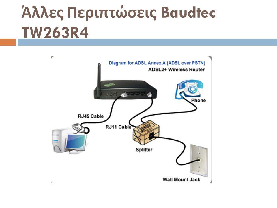 Άλλες Περιπτώσεις Baudtec TW263R4