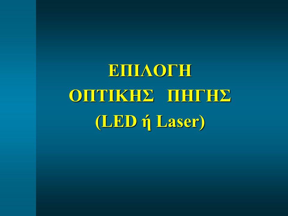 ΕΠΙΛΟΓΗ ΟΠΤΙΚΗΣ ΠΗΓΗΣ (LED ή Laser)