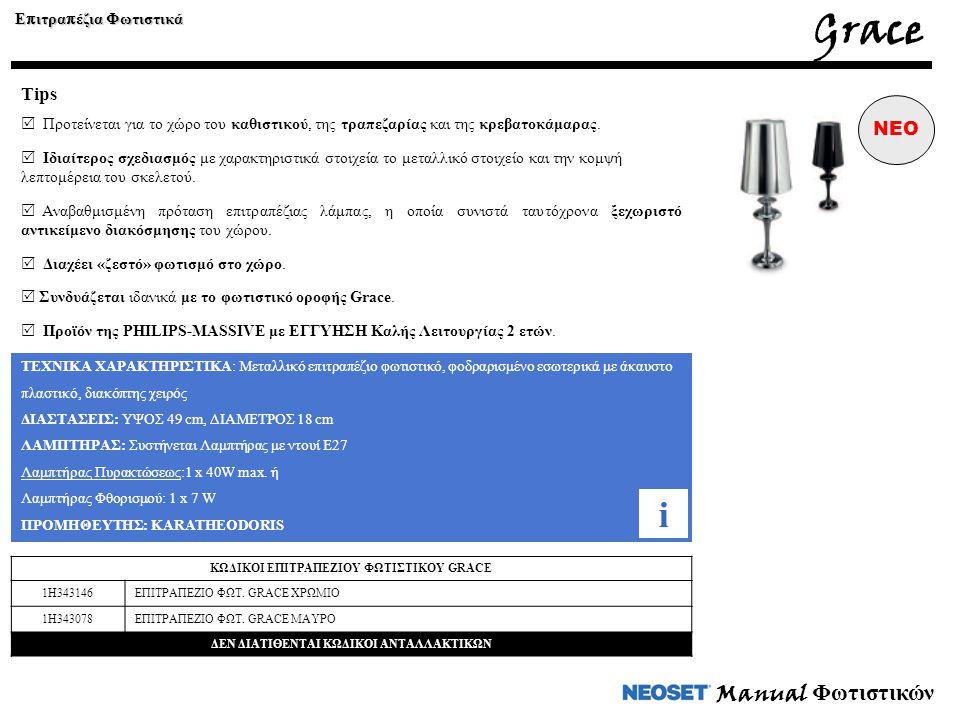 Manual Φωτιστικών ΤΕΧΝΙΚΑ ΧΑΡΑΚΤΗΡΙΣΤΙΚΑ: Μεταλλικό επιτραπέζιο φωτιστικό, φοδραρισμένο εσωτερικά με άκαυστο πλαστικό, διακόπτης χειρός ΔΙΑΣΤΑΣΕΙΣ: ΥΨ