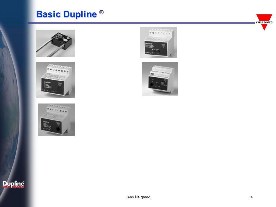 Basic Dupline Basic Dupline ® Jens Neigaard15 Αρχή μετάδοσης δεδομένων 8.2 2.2 t 128 Pulses 128 x 1ms 136ms V Sync.