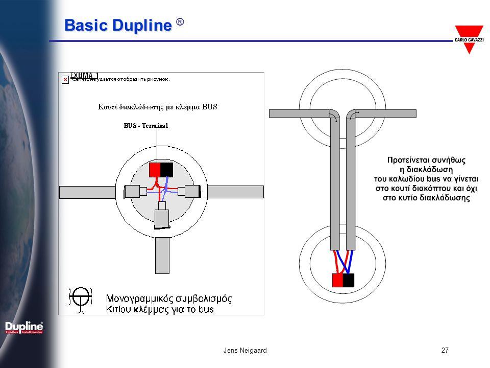 Basic Dupline Basic Dupline ® Jens Neigaard28 Ασφαλέστερη καλωδίωση για Dimmer Επιτρεπτή καλωδίωση για Dimmer από το Dupline Φωτισμός Dimming