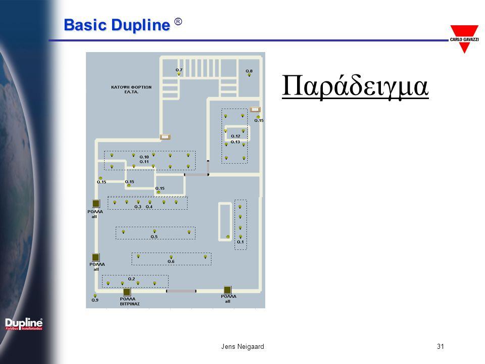 Basic Dupline Basic Dupline ® Jens Neigaard32 Φόρμα Προ-Προγραμματισμού