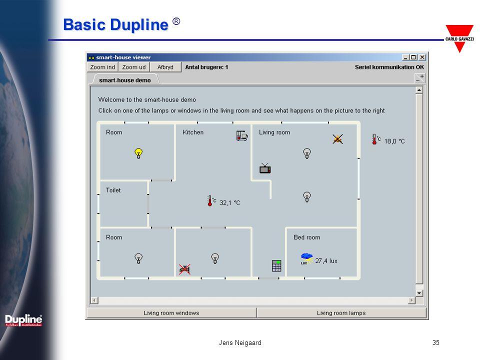 Basic Dupline Basic Dupline ® Jens Neigaard36 Πρωτόκολλα Modbus Profibus DP Lonbus DeviceNet Ειδικά RS485 RS232, Ethernet Mitsubishi Siemens Allan-Bradley OMRON GE-Fanuc LG PLC προσαρμογείς