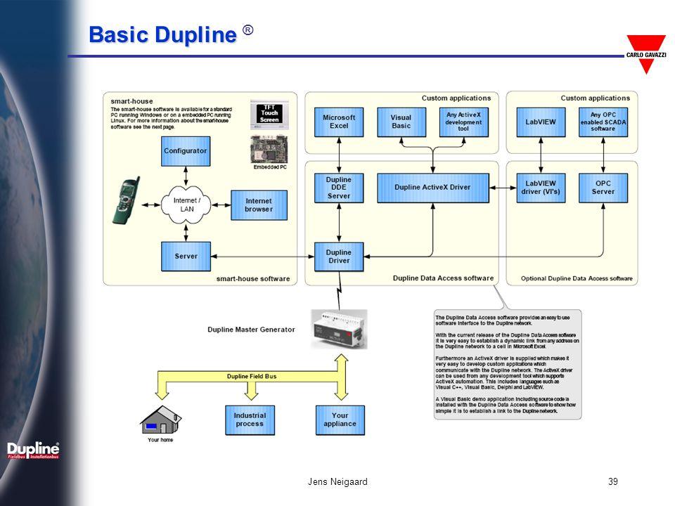 Basic Dupline Basic Dupline ® Jens Neigaard40 Σύνδεση με Μετρητές Ενέργειας I/O module I/O module
