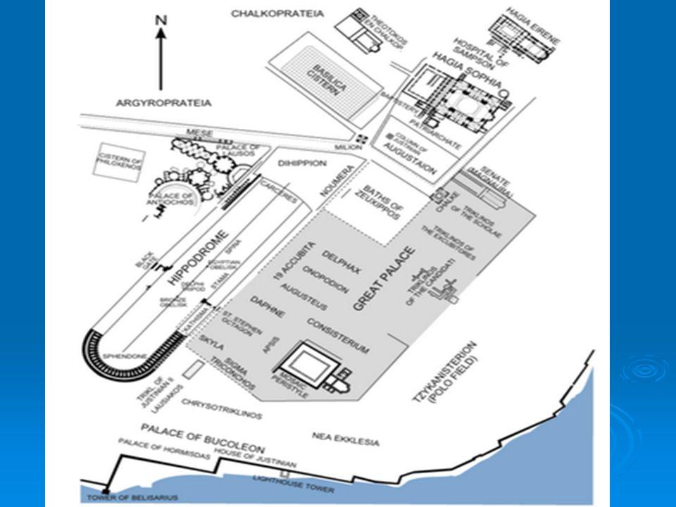 Αναπαράσταση του παλατιού Στοές, κήποι, αυλές, κρήνες και πολλά διαμερίσματα θα αποτελούσαν το ιερό Παλάτι