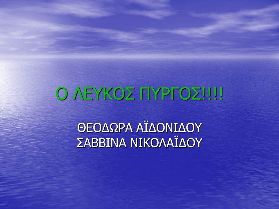 Ο ΛΕΥΚΟΣ ΠΥΡΓΟΣ!!!! ΘΕΟΔΩΡΑ ΑΪΔΟΝΙΔΟΥ ΣΑΒΒΙΝΑ ΝΙΚΟΛΑΪΔΟΥ