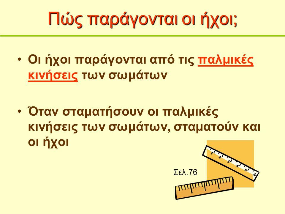 Ήχος Ήχος Πέτρος Γεωργιάδης Σύμβουλος Ε π ιστήμης, Υ. Π. Π.