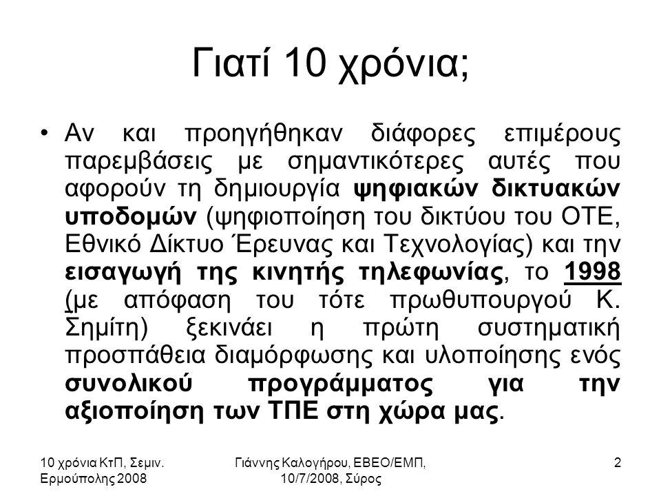 10 χρόνια ΚτΠ, Σεμιν.Ερμούπολης 2008 Γιάννης Καλογήρου, ΕΒΕΟ/ΕΜΠ, 10/7/2008, Σύρος 43 10.