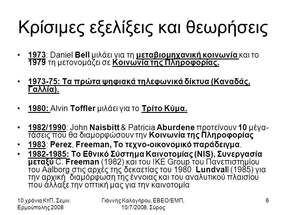 10 χρόνια ΚτΠ, Σεμιν.Ερμούπολης 2008 Γιάννης Καλογήρου, ΕΒΕΟ/ΕΜΠ, 10/7/2008, Σύρος 37 4.