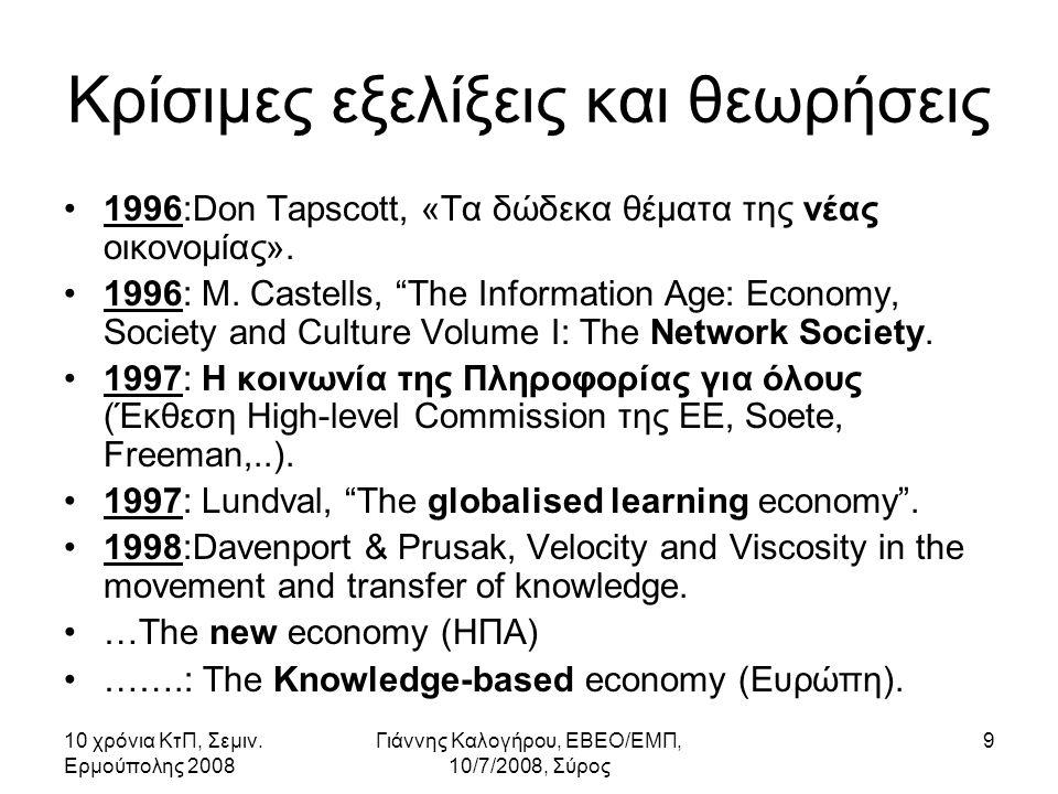 10 χρόνια ΚτΠ, Σεμιν.Ερμούπολης 2008 Γιάννης Καλογήρου, ΕΒΕΟ/ΕΜΠ, 10/7/2008, Σύρος 40 7.