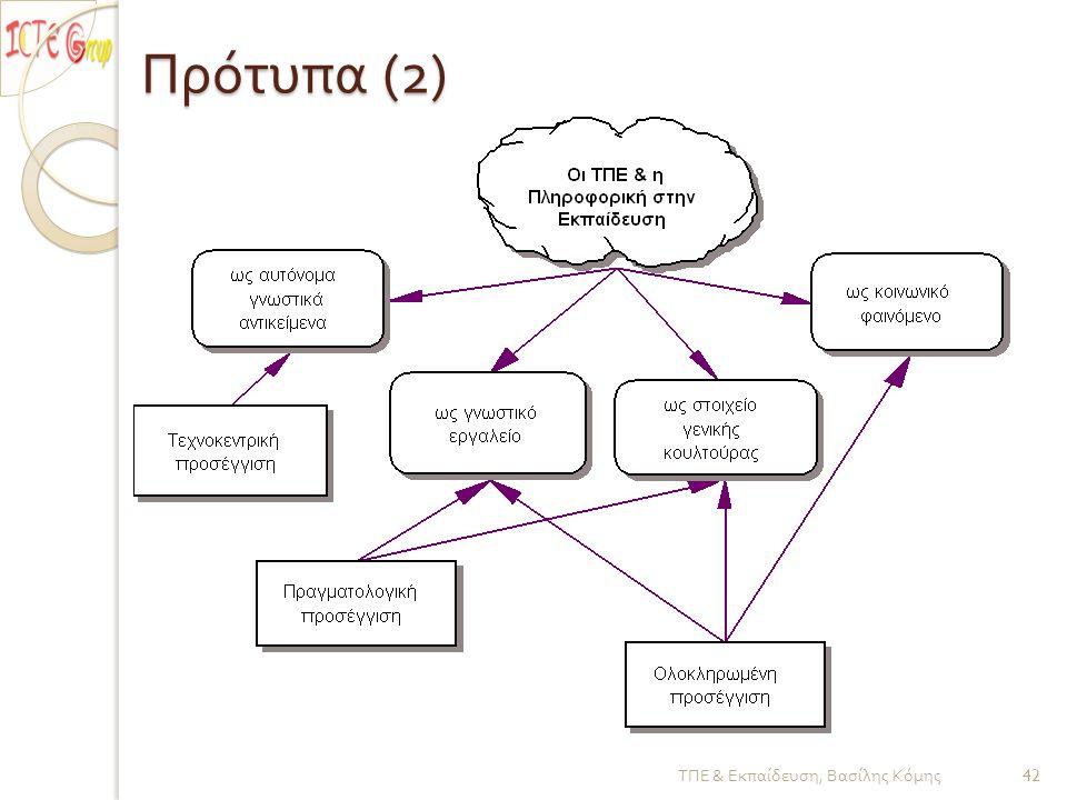 Πρότυπα (2) ΤΠΕ & Εκπαίδευση, Βασίλης Κόμης 42