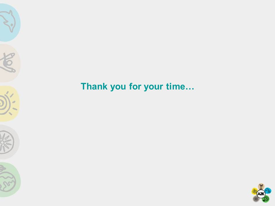 Thank you for your time…