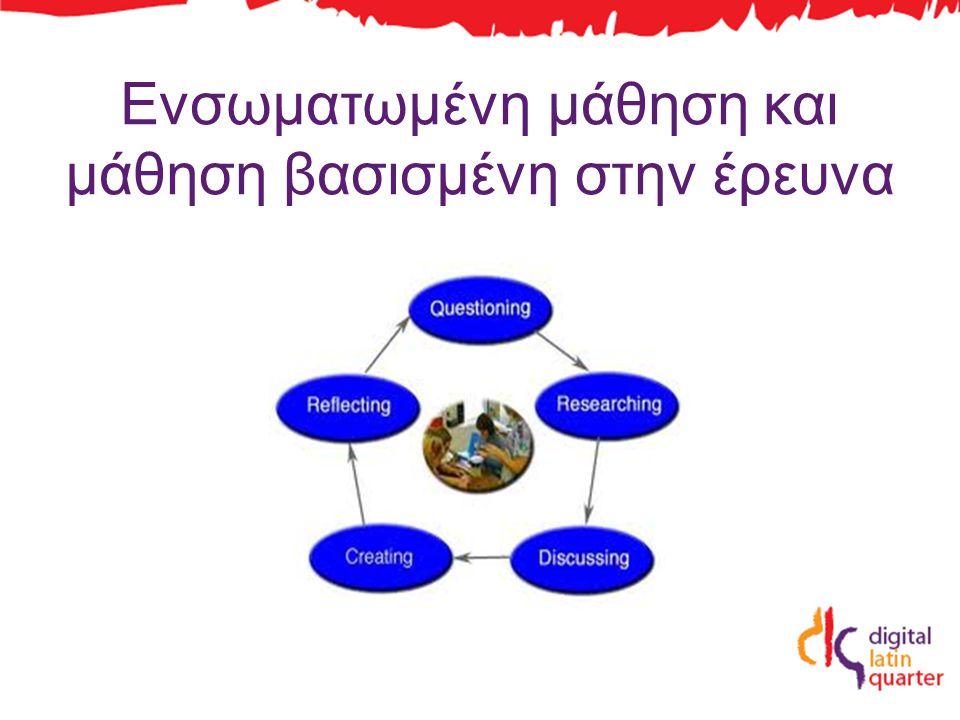 Ενσωματωμένη μάθηση και μάθηση βασισμένη στην έρευνα