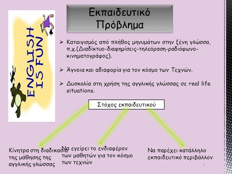 13 Ανάγκες εκπαιδευομένων 1) Ανάγκη κατανόησης: Ανάγκη κατανόησης της γλώσσας εις βάθος, πέρα από τη στείρα γνώση της γραμματικής και του λεξιλογίου, ώστε να την εντοπίζουν και να την εφαρμόζουν οπουδήποτε.