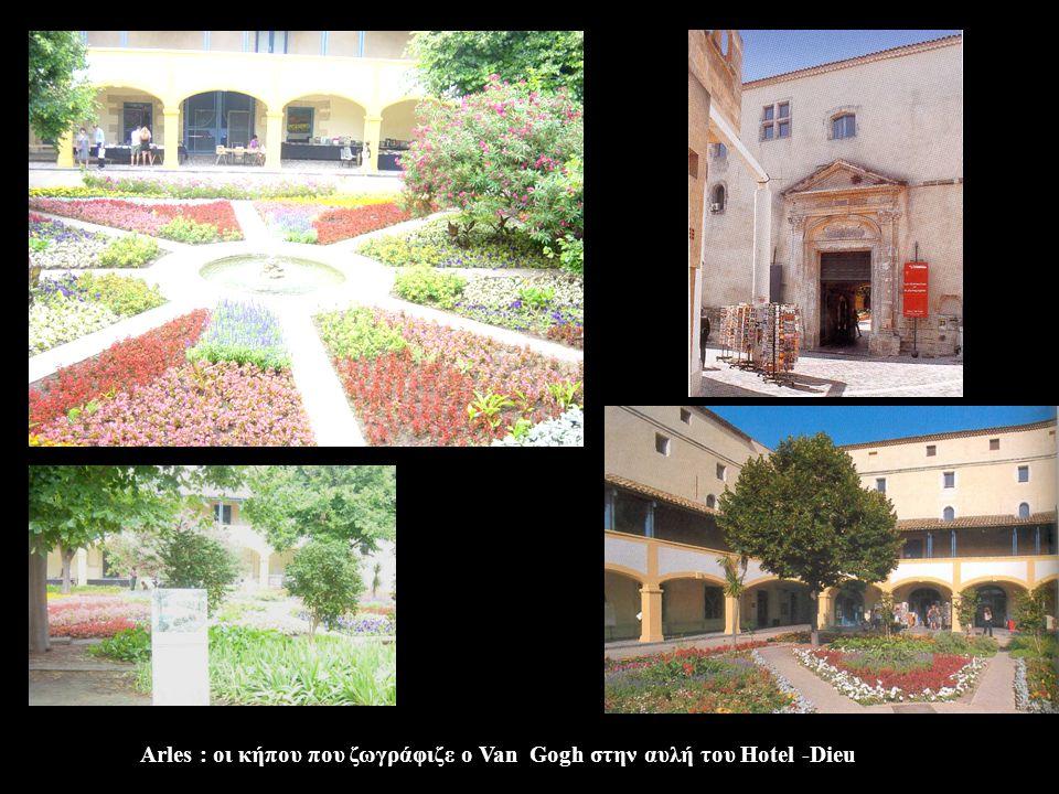 Arles : οι κήπου που ζωγράφιζε ο Van Gogh στην αυλή του Ηotel -Dieu