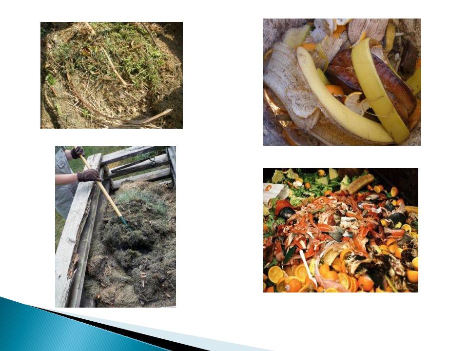  Κομποστοποίηση είναι μια φυσική, βιολογική διεργασία που μετατρέπει τα οργανικά (ζυμώσιμα) απόβλητα σε κόμποστ (φυτόχωμα), που βελτιώνει το χώμα και